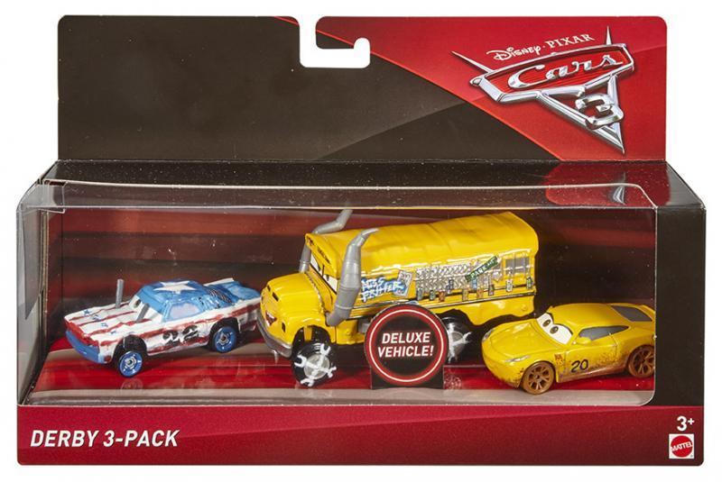 Mattel Cars 3 Auta 3ks - Derby
