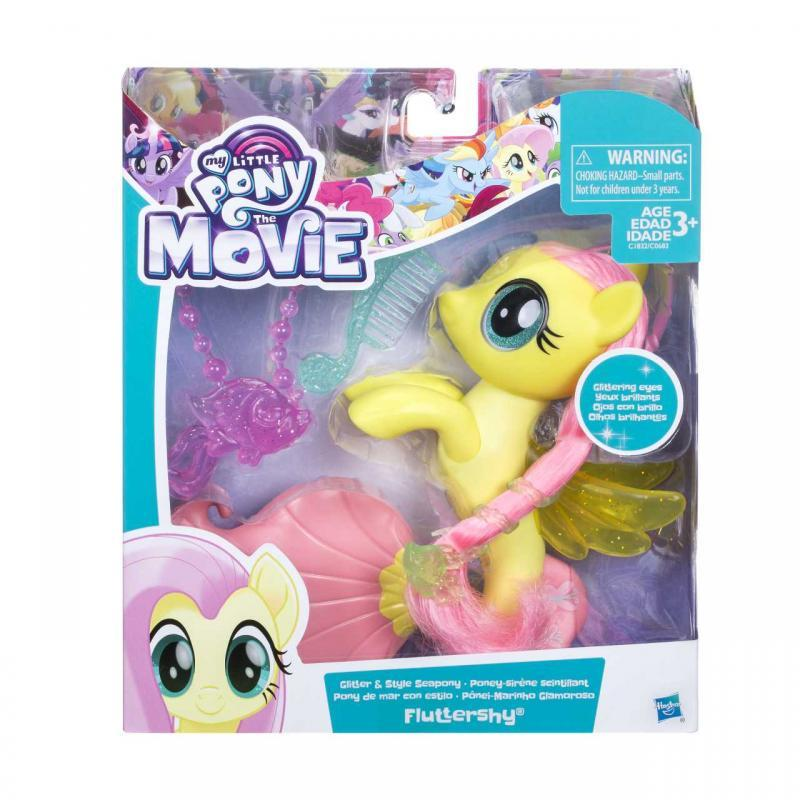 Hasbro My Little Pony Mořský poník s módními doplňky 15cm - Fluttershy
