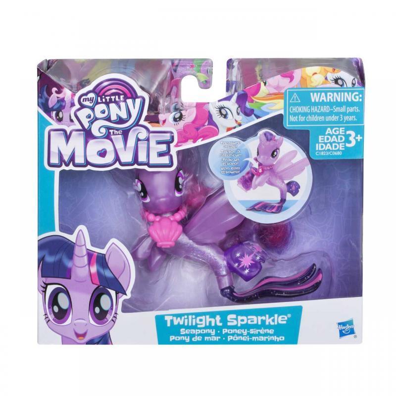 Hasbro My Little Pony Mořský poník s doplňkem a pohyblivým ocáskem 7,5cm - Twilight Sparkle