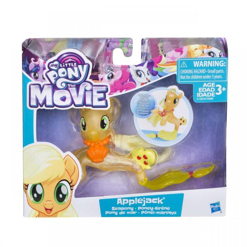 Hasbro My Little Pony Mořský poník s doplňkem a pohyblivým ocáskem 7,5cm - Applejack