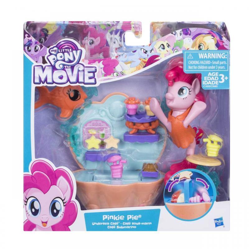 Hasbro My Little Pony Podmořský hrací set s poníkem 7,5 cm - Pinkie Pie