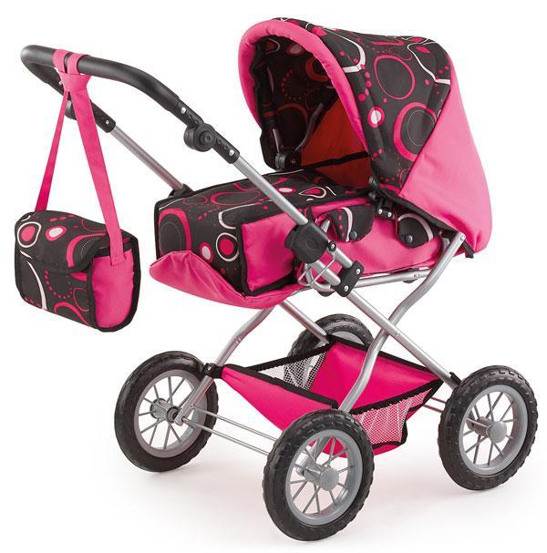 Bayer Kombi Grande kočárek pro panenky - růžovo-černý