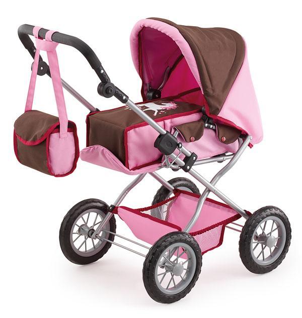 Bayer Kombi Grande kočárek pro panenky - růžovo-hnědý