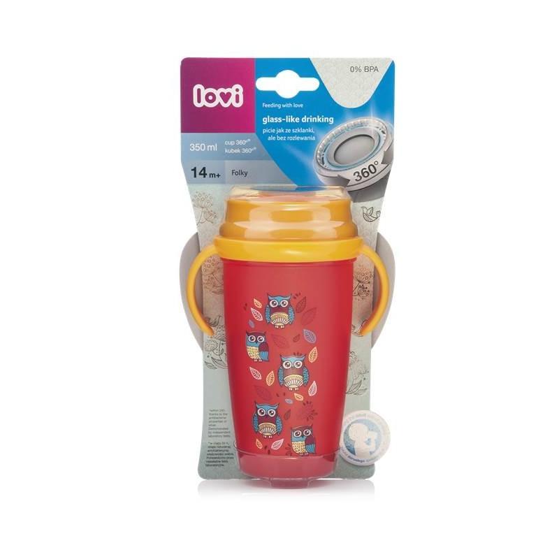 LOVI nevylévací hrníček 360° ACTIVE FOLKY 350 ml s úchyty bez BPA