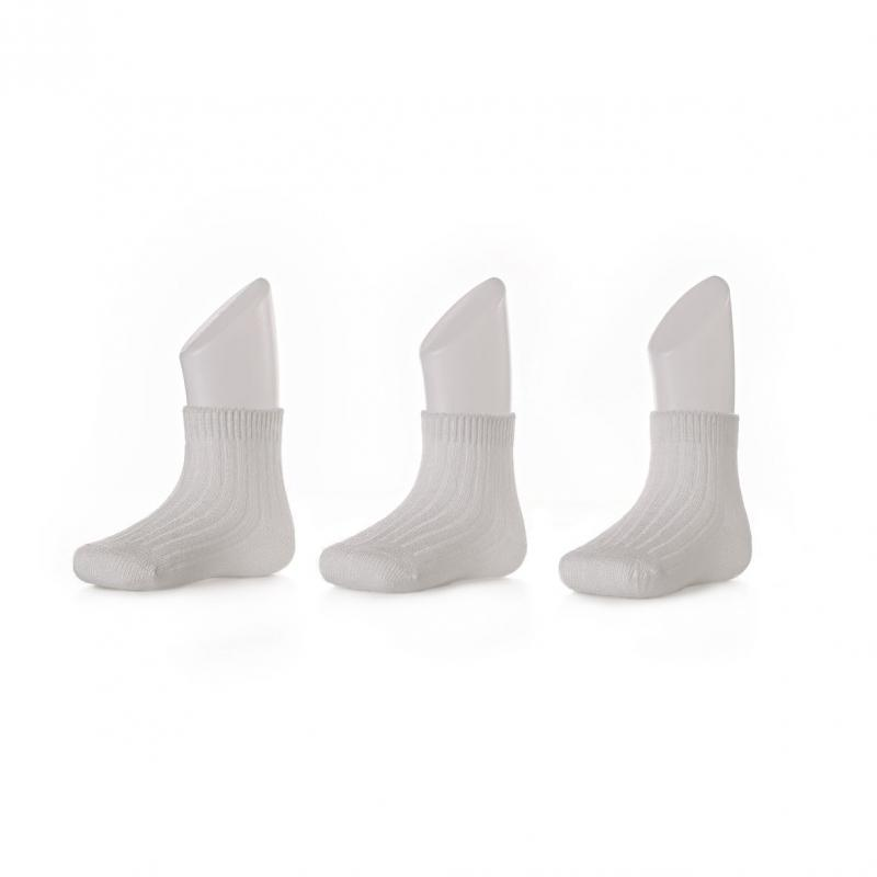 KIKKO Ponožky XKKO BMB Pastels White - 0-6m 3páry
