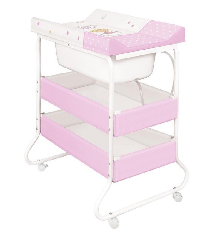 Ceba Baby Přebalovací pult s vaničkou Susi - Andílek bílo-růžová