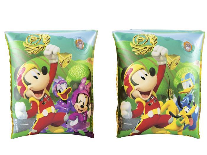 Bestway Nafukovací rukávky Mickey Mouse/Minnie, 2 druhy - Mickey závodník