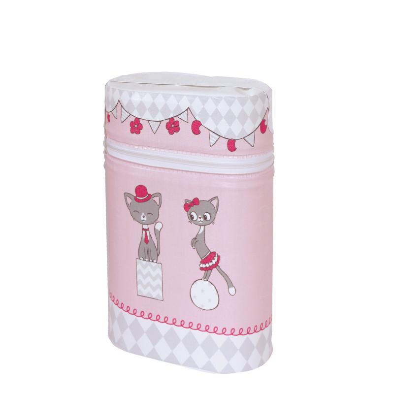 Ceba Baby Termoobal na kojeneckou láhev (obal na 2 láhve) - Růžové kočičky 5a48d62b0d0