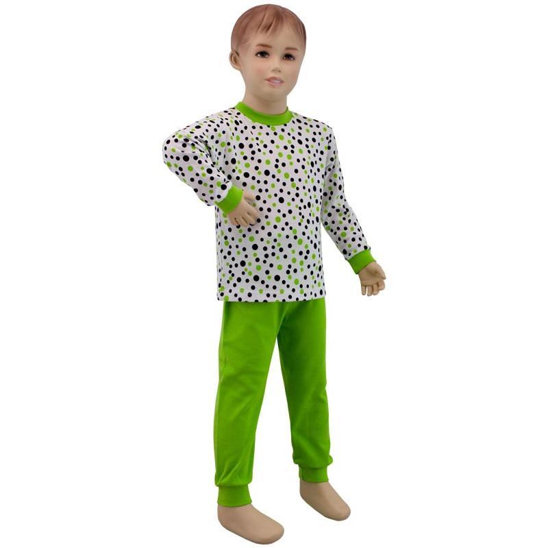 Esito Dětské pyžamo zelený puntík - vel.86