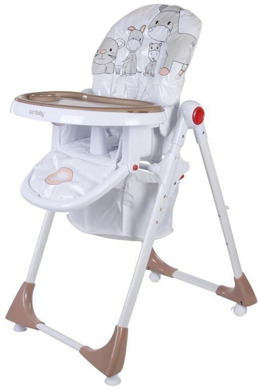 Jídelní židlička Sunbaby Siera - hnědá