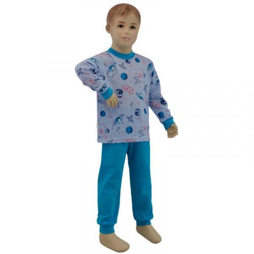 Esito Chlapecké pyžamo planety na modré