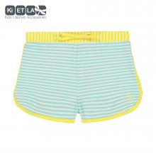 Kietla plavky s UV ochranou - šortky zelené proužek