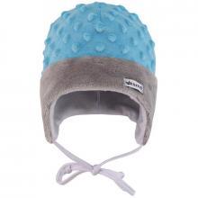 Esito Dětská zimní čepice Minky Méďa modrá