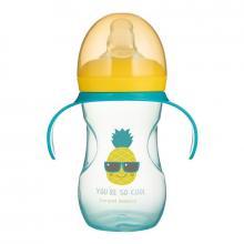 Canpol babies Tréninkový hrníček se silikonovým pítkem a úchyty SO COOL 270 ml