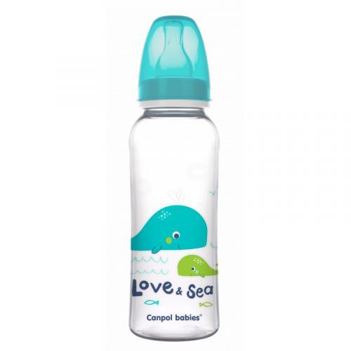Canpol babies Láhev s potiskem LOVE&SEA 250 ml