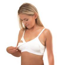 BabyOno Podprsenka pro těhotné a kojící ženy White