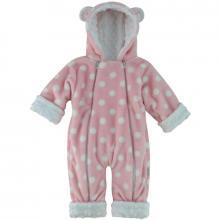 Esito Zimní kojenecký overal Minky Méďa puntík růžová