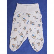 Esito Polodupačky bavlna potisk medvídek bílá/modrá