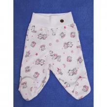 Esito Polodupačky bavlna potisk medvídek bílá/růžová