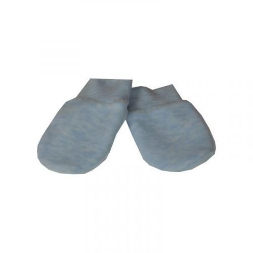 Esito Kojenecké rukavice plyš melír modrá