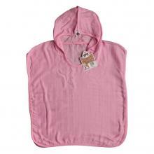 KIKKO Bambusové mušelínové pončo XKKO BMB Colours Baby Pink