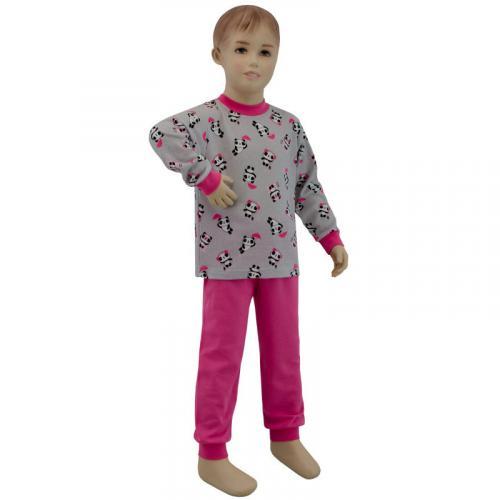 Esito Dívčí pyžamo panda na šedé