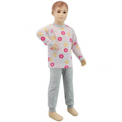 Esito Dívčí pyžamo růžový donut žlutý