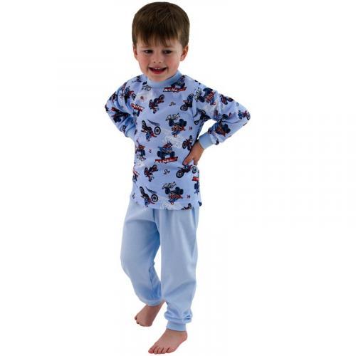 Esito Chlapecké pyžamo Motorky na modré