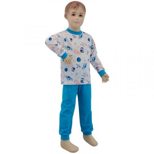 Esito Chlapecké pyžamo planety na bílé