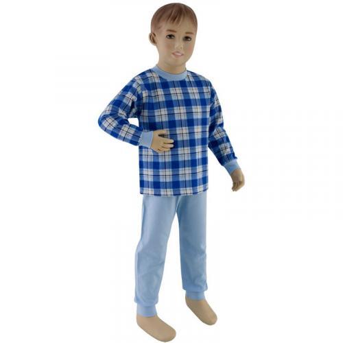 Esito Chlapecké pyžamo tmavé modré kostky
