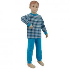 Esito Chlapecké pyžamo tyrkysové kostky