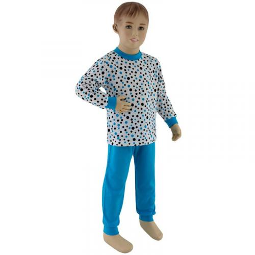 Esito Chlapecké pyžamo modrý puntík