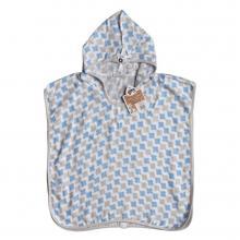 KIKKO Bambusové mušelínové pončo XKKO BMB Scandinavian Cross Baby Blue