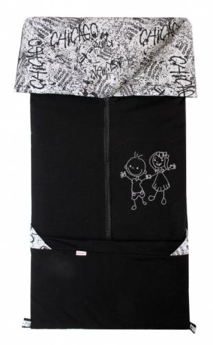 Emitex Fusak 2v1 Fanda fleece/bavlna grafity