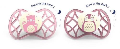 Nuvita ortodontický dudlík Explorer svítící ve tmě 0m+