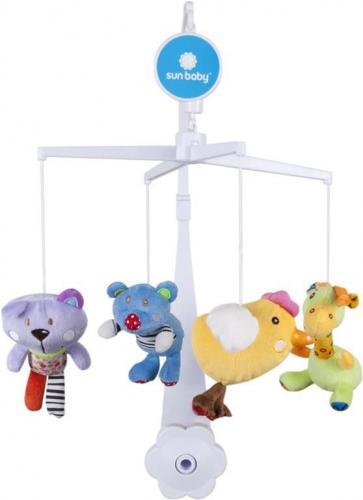 Sunbaby Kolotoč nad postýlku s plyšovými hračkami
