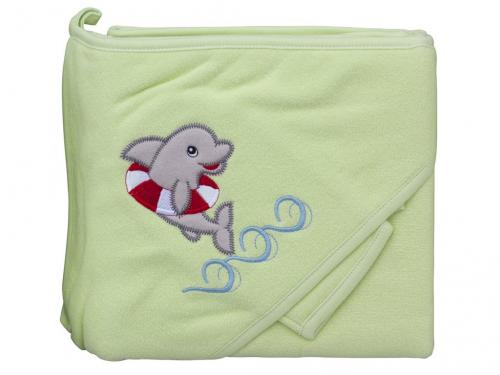 Scarlett Froté ručník s kapucí a žínkou Delfín