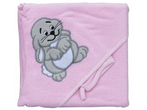 Scarlett Froté ručník s kapucí a žínkou Zajíc