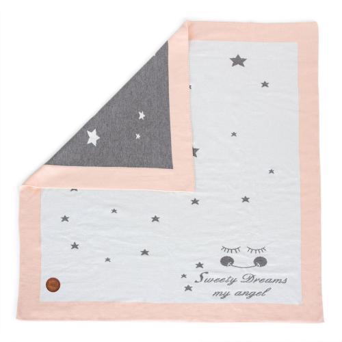 Ceba baby Pletená deka v dárkovém krabičce 90 x 90 cm