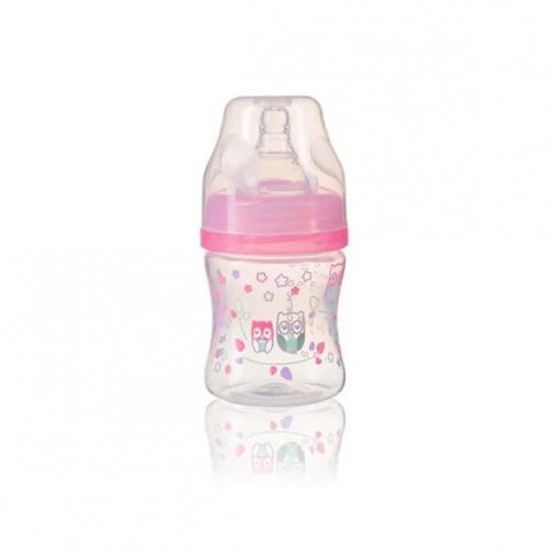 BabyOno Kojenecká antikoliková láhev široké hrdlo 120 ml, 0m+