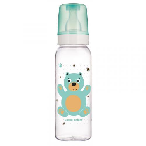 Canpol babies láhev s potiskem CUTE ANIMALS 250 ml 12m+