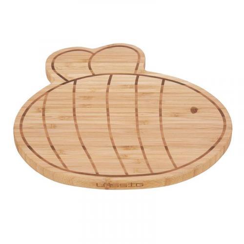 Lässig BABIES Breakfast Board Bamboo Wood Garden Explorer