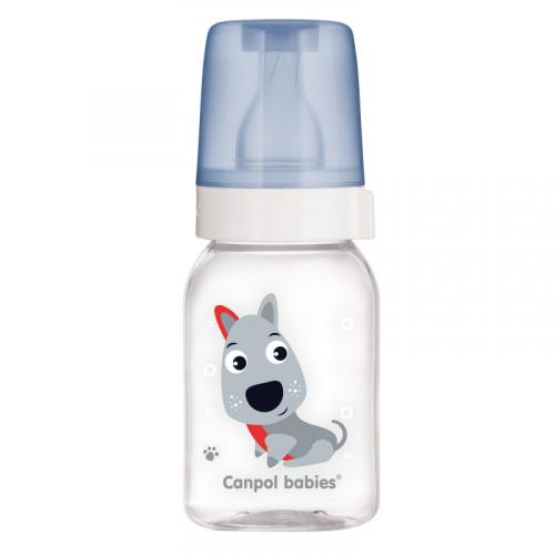 Canpol babies láhev s potiskem Cute Animals 120 ml