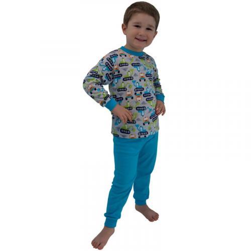 Esito Chlapecké pyžamo Bagr tyrkysové