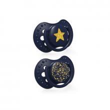 LOVI Dudlík silikonový dynamický Stardust 0-3m, 2 ks