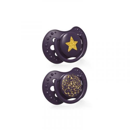 LOVI Dudlík silikonový dynamický Stardust 3-6m, 2 ks