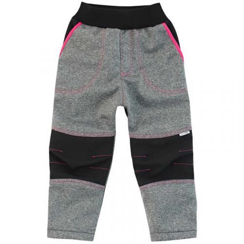 Esito Dětské softshellové kalhoty růžová