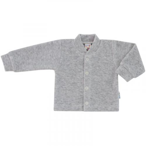 Esito Kojenecký kabátek plyšový jednobarevný melír šedý