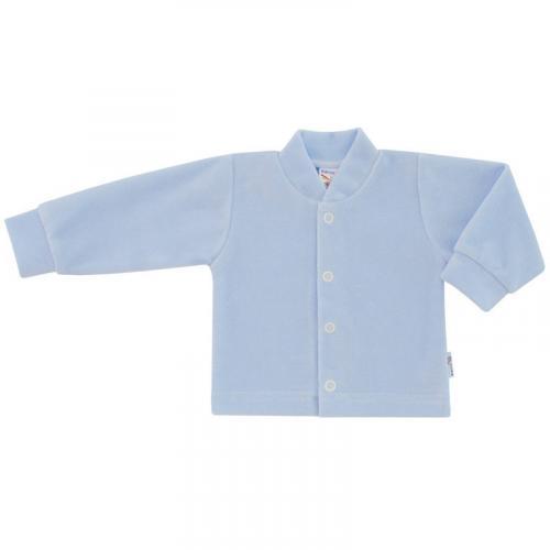 Esito Kojenecký kabátek plyšový jednobarevný modrý