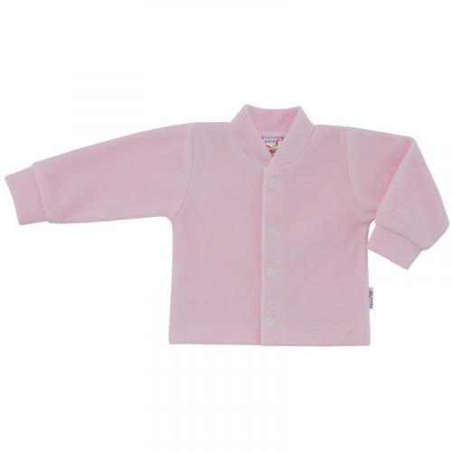 Esito Kojenecký kabátek plyšový jednobarevný růžový